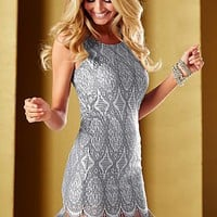 Silver Fringe hem dress from VENUS