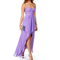 Elly-Lilac Hi Lo Prom Dress