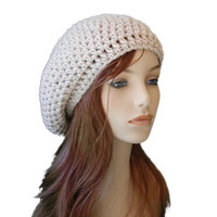 Classic Crochet Beret SlouchyHat, Ladies Fashion Hat