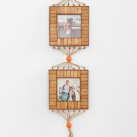 Double-Tiered Bamboo Hanging Frame