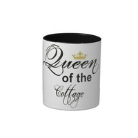 11oz 2 Tone Coffe Mug - Queen Of Cottage from Zazzle.com