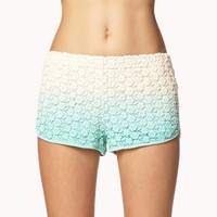 Crocheted Ombré Shorts
