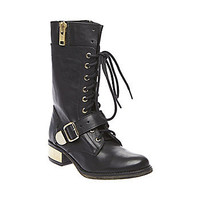 Steve Madden - LOLLLY BLACK LEATHER
