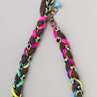 Adia Kibur Chain  Neon Braided Necklace | SHOPBOP