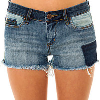 Blank NYC Bottoms Denim Cutoff Short in Prairie Dog