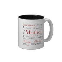 2 Toned Coffee Mug Mother Block Text, 2 sided from Zazzle.com