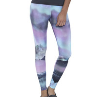 Aurora Sky Print Leggings | Shop Just Arrived at Wet Seal