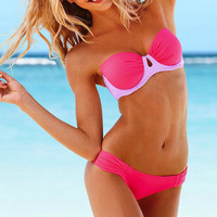 Gorgeous Push Up Bandeau Top in 'Neon Hot Pink'