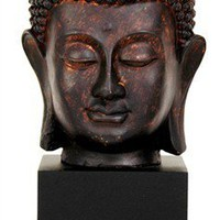 10 in. Tall Thai Buddha Head Statue