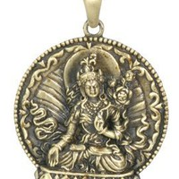 White Tara Pendant - Collectible Medallion Necklace Accessory Jewelry:Amazon:Jewelry