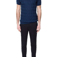 OPEN KNIT POLO SHIRT - Knitwear - Man - ZARA United States