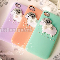 iphone 5 case,cuth sheep iphone 4s case,cyrstal iphone4 case, iphone 5 cover cases