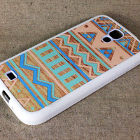 Color Seamless wood Samsung Galaxy S4 S IV Rubber Case and Hard Cover Case