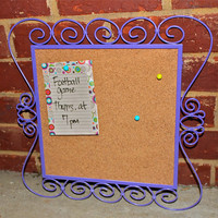 Bright Purple framed Cork Message Board by AquaXpressions... Fun Chic Decor by Aqua Xpressions