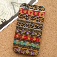 Handmade Tribal Stripe Pattern Fabric Phone Case