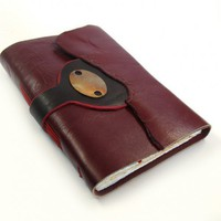 The Vow - Dark Red Leather Book | Baghy - Paper/Books on ArtFire