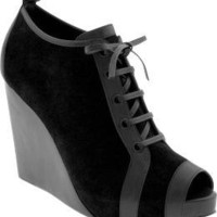 Design Editions peep-toe wedge booties