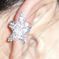Sparkly Starfish Ear Cuff