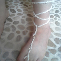 Jump into Infinity in These Barefoot Sandals in White