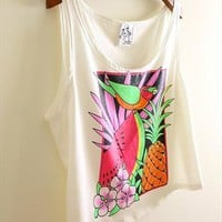 summer fruits prints tank top from mancphoebe