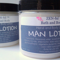 Men's Body Lotion by ZEN-ful, Cool Water (Type Scent),  Hand Lotion, Shea Butter Lotion, Gifts For Him, Father's Day Gifts