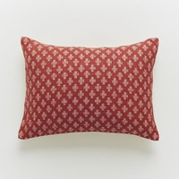 Jacquard Leaf Pillow Cover