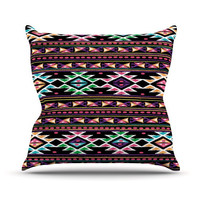 "Nika Martinez ""Black Aylen"" Throw Pillow 