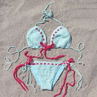 The Spool Swim Crochet & Mint Bikini, Sweet Bohemian Swim Suits & Bikinis