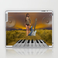 Sands of Music Laptop & iPad Skin by Cornish Seascapes