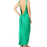 Kelly Green Low Back Maxi Dress