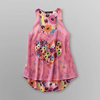 Almost Famous- -Junior's Sparkle Print Tank Top - Flowers-Clothing-Juniors-Tops