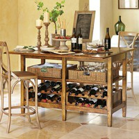 La Bergerie Wine Tasting Table, Oak