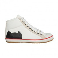 White High Top Canvas Sneakers - Cat's Tsumori Chisato - Kisan Store