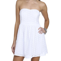 Eyelet Sweetheart Dress | Shop Dresses at Wet Seal