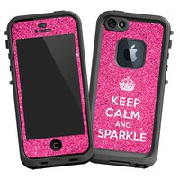 Keep Calm and Sparkle Skin for Lifeproof iPhone 5 Case