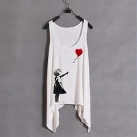 Banksy Inspired Girl And Red Balloon Tank