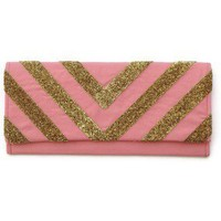{Glitter} Chevron Clutch