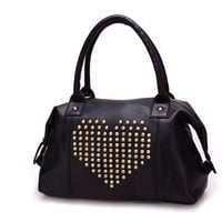LOVE STUDDED HANDBAG