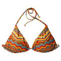 Mossimo® Women's Reversible Triangle Swim Top -Multicolor Print