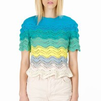 RISTO MULTICOLOR CROCHET TOP - WOMEN - TOPS - RISTO - OPENING CEREMONY