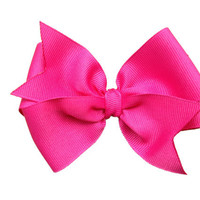 4 inch hot pink hair bow  hot pink bow by BrownEyedBowtique