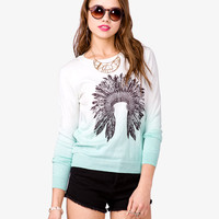 Ombré Feather Sweater | FOREVER21 - 2040226076