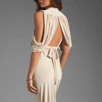 T-Bags LosAngeles Drape Back Maxi in Cream from REVOLVEclothing.com