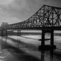 Nola - Morning Fog At The Crescent City Connection Photograph by Lance Vaughn - Nola - Morning Fog At The Crescent City Connection Fine Art Prints and Posters for Sale