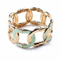 Bonded Link Bangle | Trendy Jewelry at Pink Ice