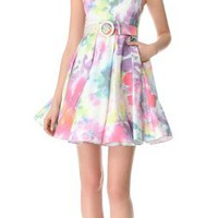 alice + olivia Floral Dress with Embellished Collar | SHOPBOP