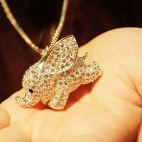 Fashion Cute Elephant Animal Pendant Necklace [kz45] - $12.99 : Supply super low prices fashion jewelry and costume jewelry--Favor21.com
