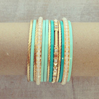 Pree Brulee - Mint Jalicia Bangle Set