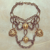 Pree Brulee - Fierce Lion Statement Necklace