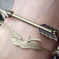 Mockingjay bracelet and Arrow BraceletThe Hunger by qizhouhuang